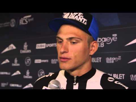 2014 Dubai Tour: Marcel Kittel talks about sprinting against Cavendish