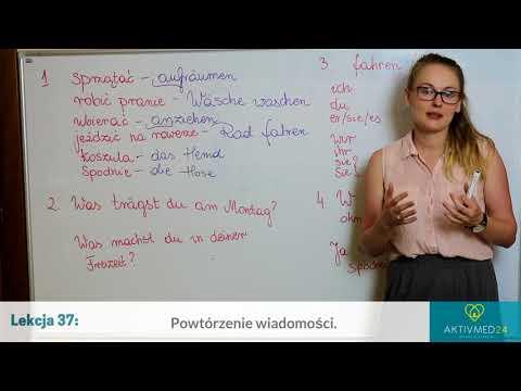 Niemiecki Dla Opiekunek Seniorów: Lekcja 37 - Powtórzenie Wiadomości