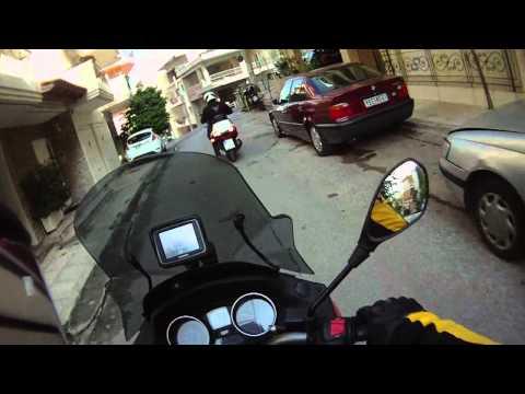 Gilera Fuoco and Piaggio MP3 300 in Galatsi