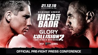 COLLISION II: Official Pre-Fight Press Conference