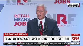 Pence rips Congress over failure to repeal Obamacare The time to act is now