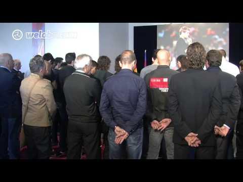 Els jugadors i la directiva del Barça s'acomiaden de Tito Vilanova / www.weloba.cat