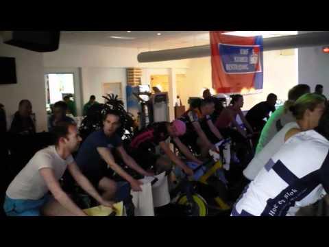Fitness2Gether Spinningmarathon voor KWF kankerbestrijding