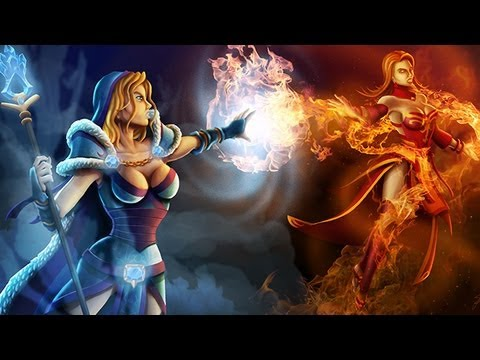 Dota 2 Crystal Maiden vs Lina Speedpainting