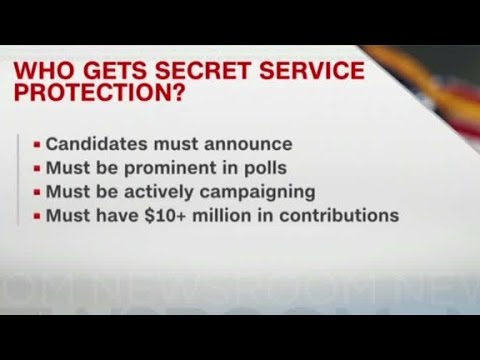 Why does Donald Trump not have a Secret Service detail?