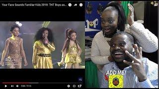 Your Face Sounds Familiar Kids 2018: TNT Boys as Jessie J., Ariana Grande..  Bang Bang Reaction Pt 1