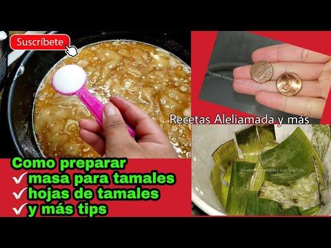 COMO PREPARAR LA MASA PARA TAMALES Y TIPS-COMIDA MEXICANA aleliamada.