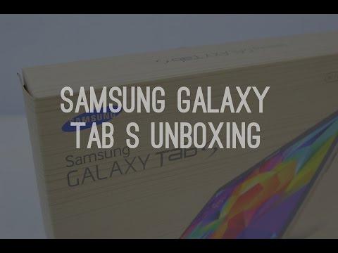 "Samsung Galaxy Tab S 10.5"" Edition Unboxing (Titanium Bronze)"
