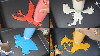 POKÉMOM Pancake art - Ho-Oh, Lugia, Blastoise, Charizard, Greninja, Onix, Mega Tyranitar etc...