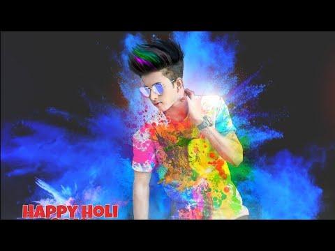 Holi special colour grading editing    2018 stylish holi photo editing    PicsArt tutorial