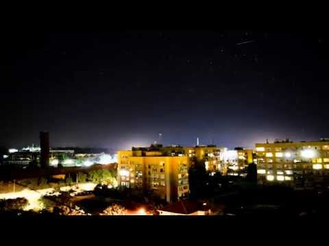 Time Lapse Night Stars Moving Targovishte Bulgaria 2014
