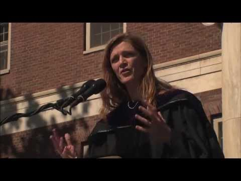 Ambassador Samantha Power addresses UVM's Class of 2014
