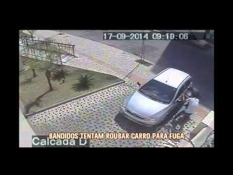 Imagens impressionantes mostram tentativa de assalto no Bairro Castelo