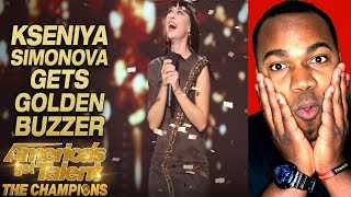 Kseniya Simonova: Sand Artist Gets Terry Crews' GOLDEN BUZZER - America's Got Talent: The Champions
