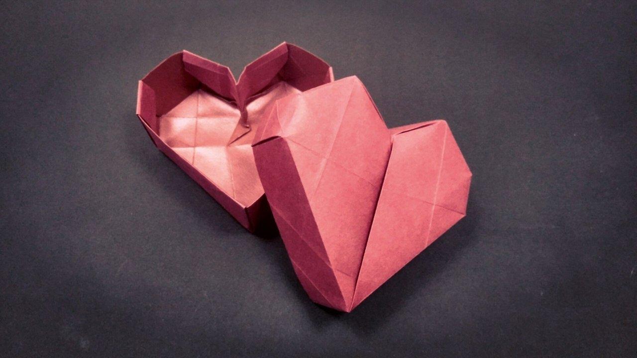Как сделать коробочка сердце оригами