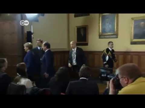 Merkel and Holland show unity on Ukraine crisis | Journal