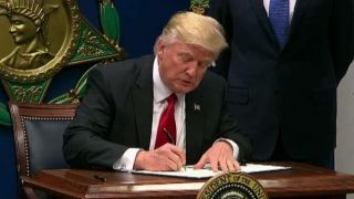 President Trump Signs Executive Orders At Pentagon