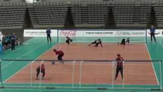Germany vs Great Britain 2nd half (Seoul 2015 IBSA Goalball World Games)