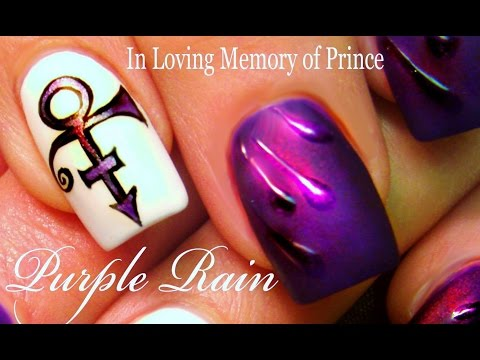 DIY Prince Nail Art Design | Purple Rain Nails Nail Tutorial