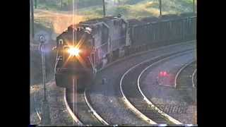 Tehachapi_(1990) SP Coal Train With 13 Locomotives ***(300th Video)***