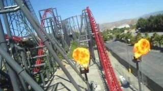 X2 Front Seat on-ride POV Six Flags Magic Mountain