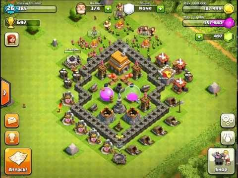 Clash Of Clans Town Hall Level 5 - Best Defense Strategy! | How To
