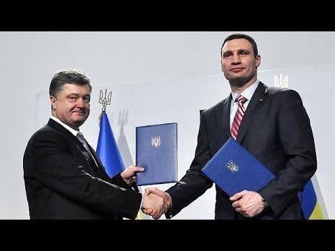 Ukraine: former boxer Vitaliy Klitschko ends presidential bid and backs Poroshenko