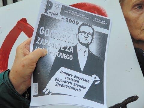 STOP Ustawie 447 - żydowskiemu Rabunkowi Polski.  Protest Pod Ambasadą USA 31.03.2019 R.