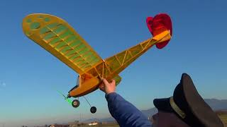 Scorpio Miss 2 our first 1.4m RC plane Tribute flight and OrangeRx Tx6i field test