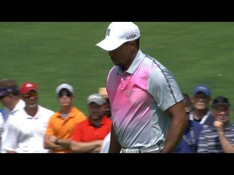 Tiger Woods' unlikely birdie on the par-5 2nd hole at Bridgestone
