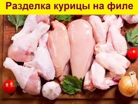 Как правильно разделать курицу.Как нарезать куриное филе.