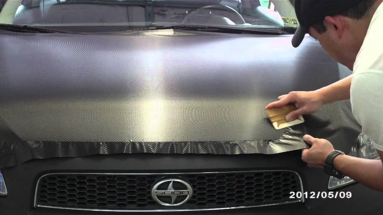 Carbon Fiber Hood Wrap Youtube