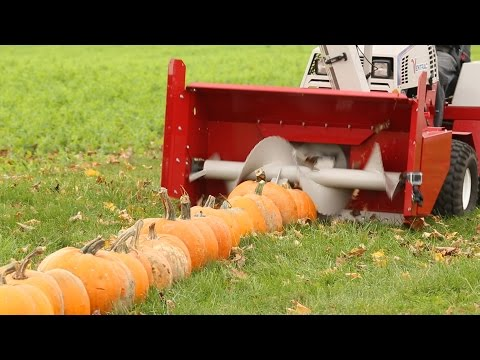 100 Pumpkins vs Snowblower