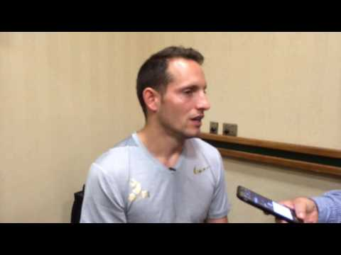 World record-holder Renaud Lavillenie on jumping high