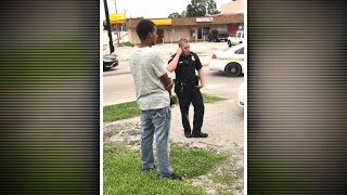 Video shows Florida officer threatening man for jaywalking