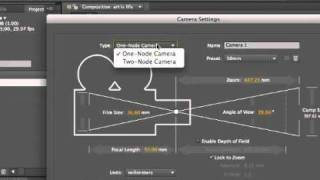 After Effects 3D for beginners: camera in-out-spin