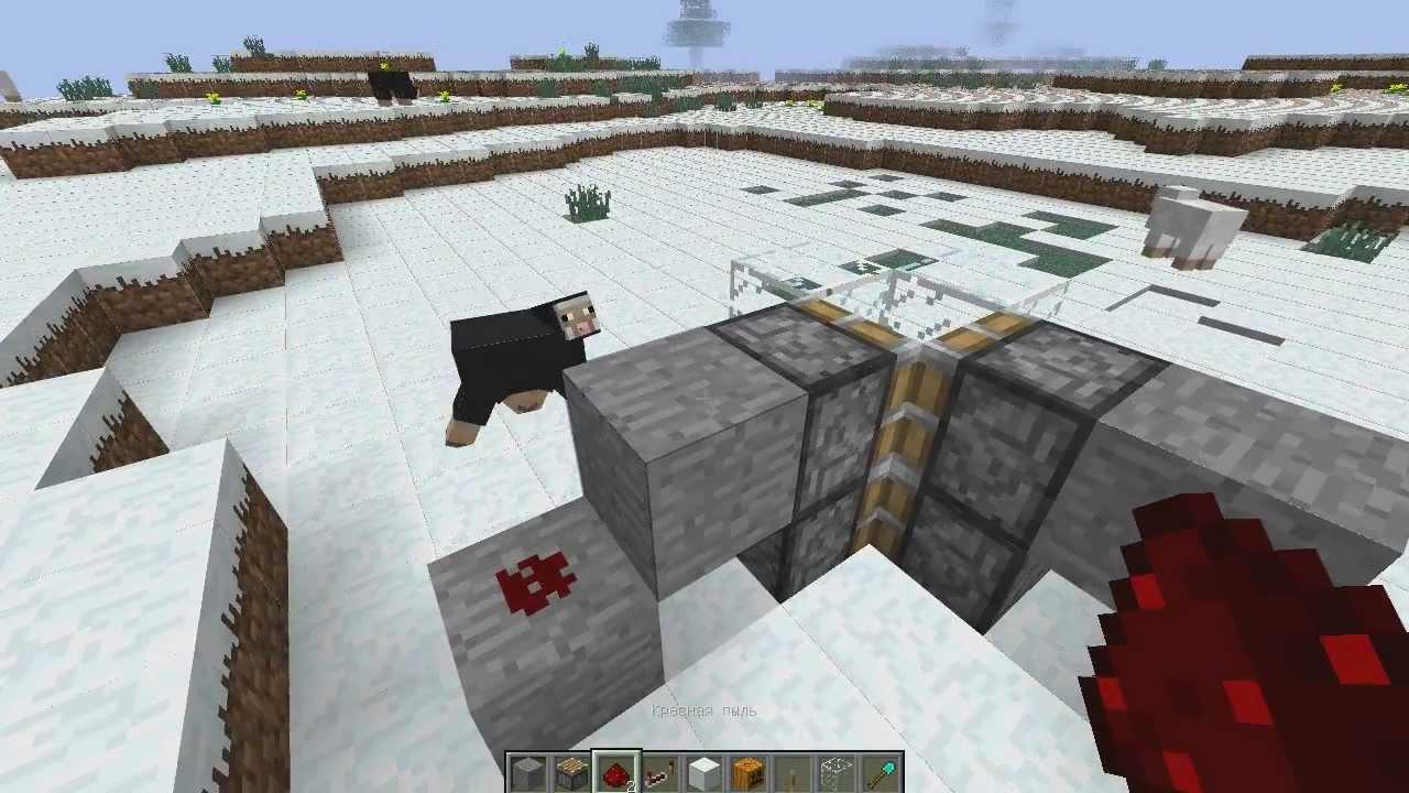 Механизмы в Minecraft. Ферма снега. - YouTube