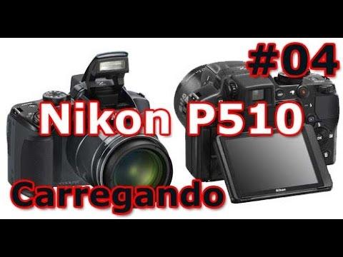 Nikon Coolpix P510 - Review - Carregando a Bateria - PT-BR - Brasil