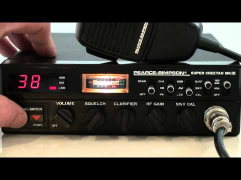 PEARCE SIMPSON SUPER CHEETAH MKIII AM-SSB CB RADIO