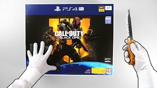 """PS4 Pro """"Black Ops 4 Edition"""" Console Unboxing - Playstation 4 Slim Call of Duty 1Tb Bundle"""