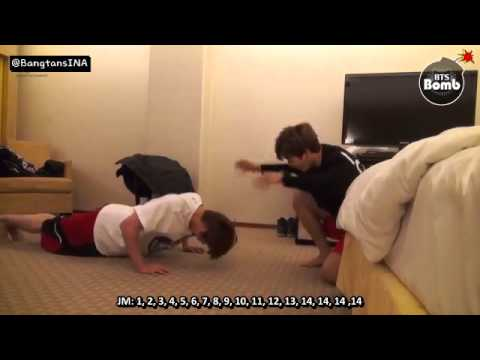 [SUB INDO] 150126 BANGTAN BOMB - Jin and Jimin's Push up time 2