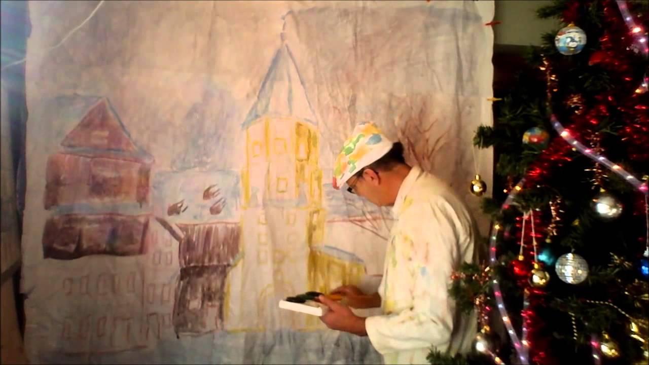Dessiner un paysage d 39 hiver en perspective et comment dessiner au pinceau youtube - Dessiner un paysage d hiver ...