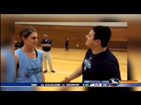 I Challenge Niko- 3 point contest with Onondaga Community College Womens basketball