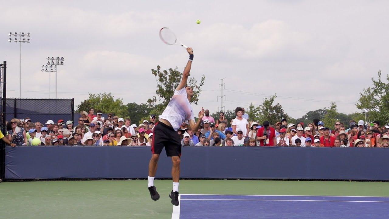 Roger Federer Serve In Super Slow Motion - 2013 Cincinnati ...
