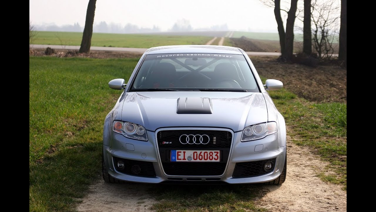 MTM Supercharged B7 Audi RS4 Clubsport! Launch, 8250 RPM, Crazy Insane sound! - YouTube