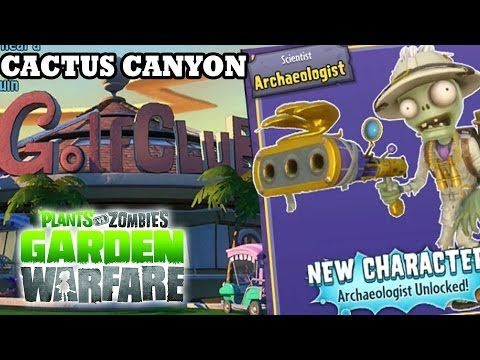 Plants Vs. Zombies  Archaeologist Unlocked  Cactus Canyon Map Gardens &amp  Graveyards  New Dlc Update