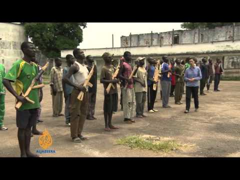CAR Christian Seleka fighters in hiding