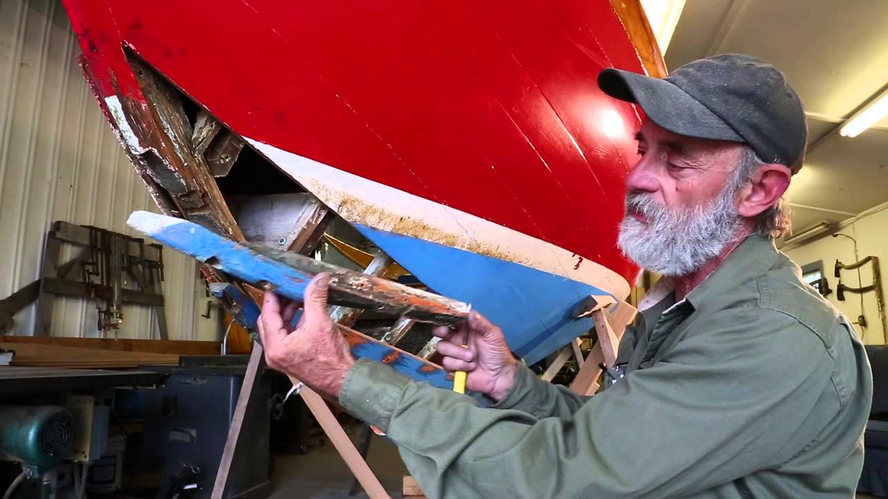 Part 1 - Wooden Boat Building - Reparing a leak on a Herreshoff 12 1/2 - YouTube