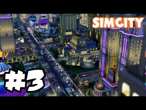 Sim City Gameplay Walkthrough Part 3 - POWER OUTAGE - Sim City 2013 Let's Play Playthrough