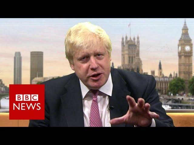Boris Johnson on Brexit, Corbyn and £350m a week - BBC News
